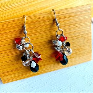 Swarovski Elements Handmade Crystal Red Earrings